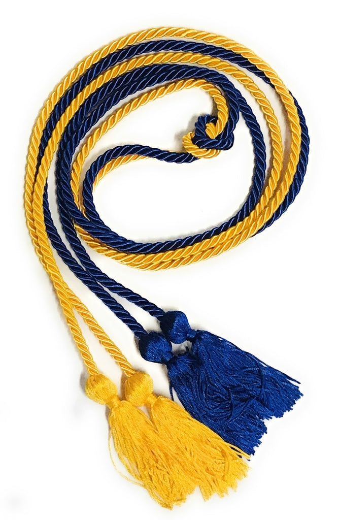 Royal Blue and Gold Graduation Cords