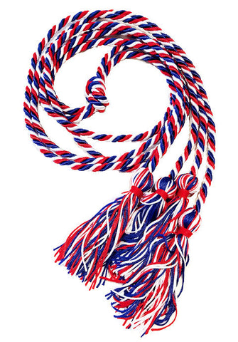 Double-Multi-Color Intertwined Honor Cords--44 Color Combination Available