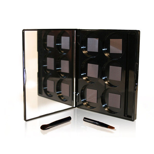 Black Six Well Case By Cat Cosmetics