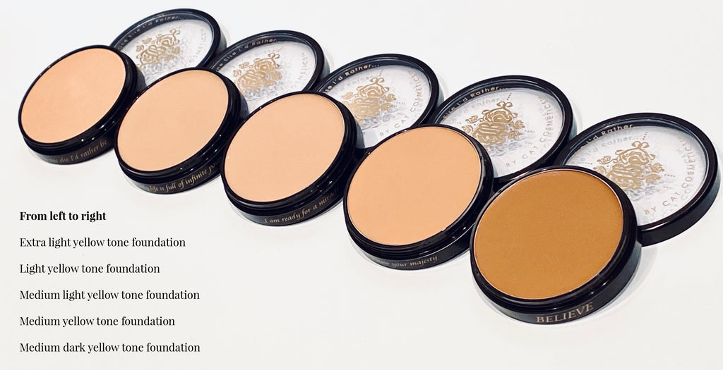 Skin Double Medium-dark Yellow Tone Foundation Stack