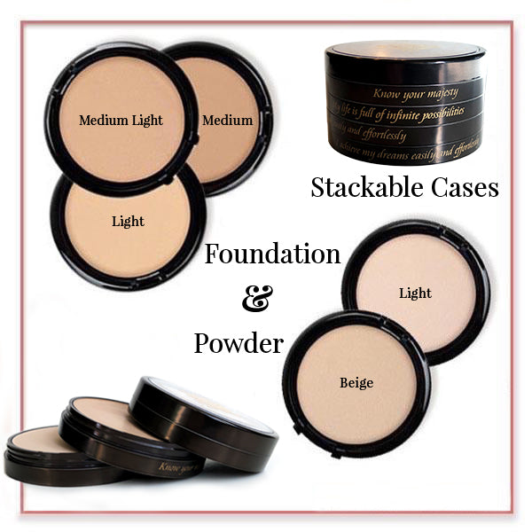 Skin Double Foundation and FREE Powder in a Three Stack Case