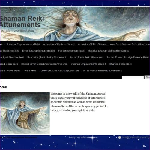 20 Shaman Reiki Attunements + Website