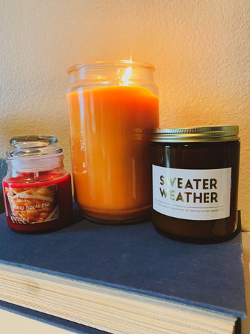 Fall candles and decor