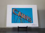 Cain's Ballroom Rooftop Sign Matted Print