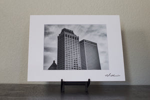 Black and White Tulsa Mid-Continent Tower