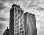 B&W Tulsa Mid-Continent Tower Photo Print | Tyler Thomason Photography