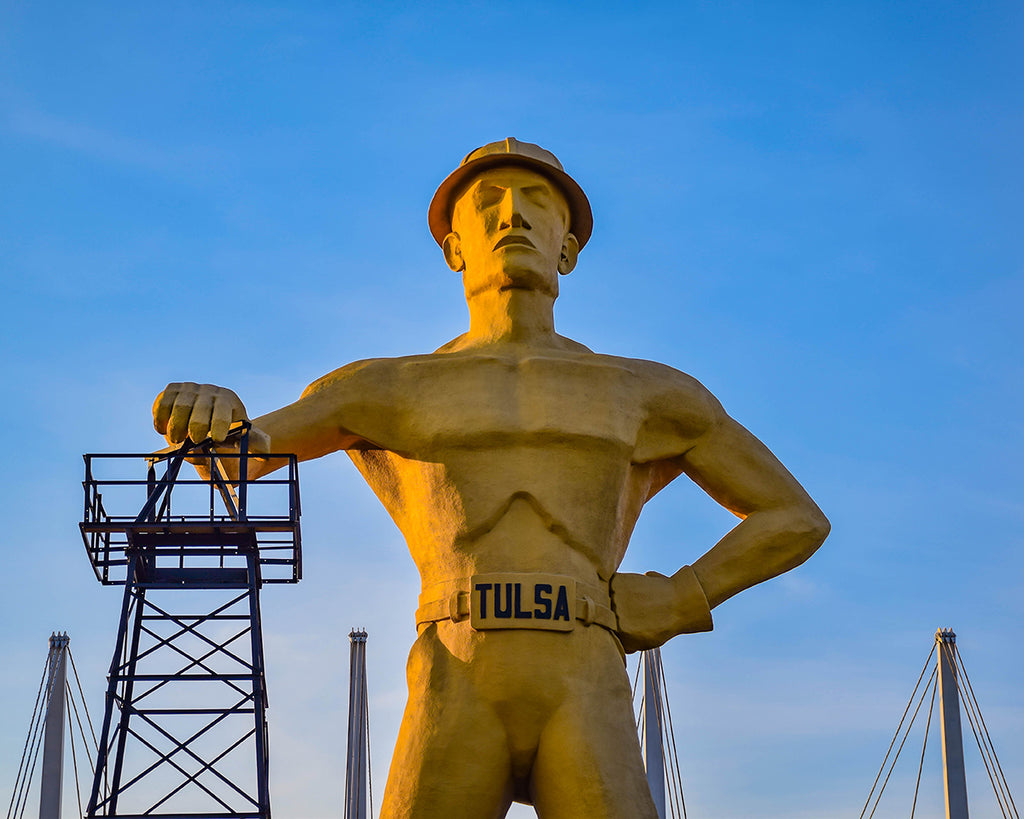 Tulsa Golden Driller Photo Print | Tyler Thomason Photography