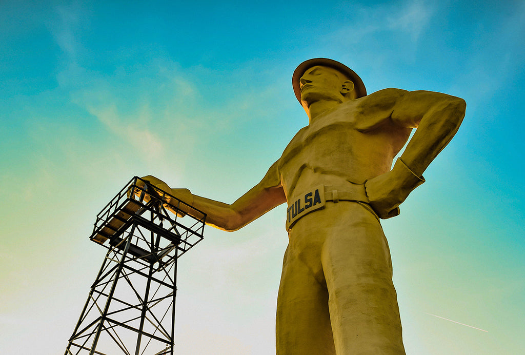 Golden Hour Tulsa Driller Photo Print | Tyler Thomason Photography
