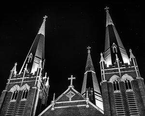 Holy family cathedral located in tulsa, ok, photography print