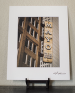 Mayo Building Sign in Color Matted Print