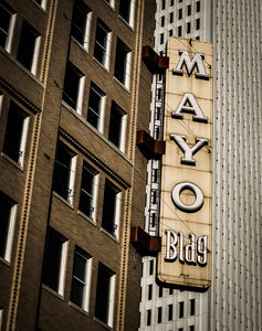 Downtown Tulsa Mayo Building Photo Print | Tyler Thomason Photography