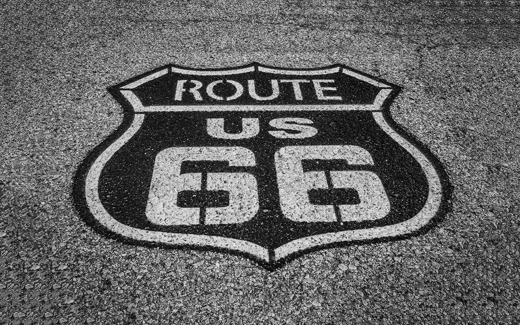 Route 66 Pavement Road Photo Print | Tyler Thomason Photography