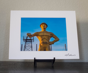 Tulsa Golden Driller Matted Print