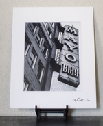 Tulsa Mayo Building - Black and White Matted Print
