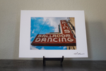 Historic Cain's Ballroom Sign Matted Photo