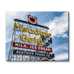Tulsa Meadow Gold Sign Metal Print