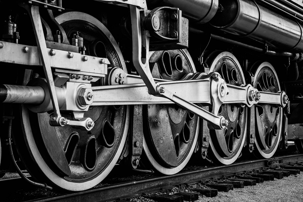 Frisco 4500 Meteor Locomotive Wheels Photo Print