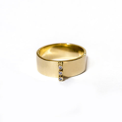 guld, diamanter, 14 kt. stripe