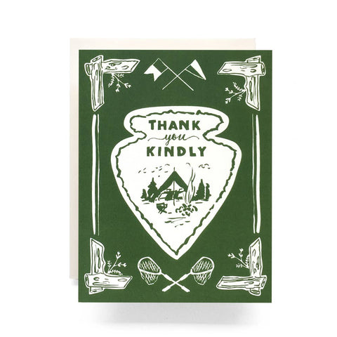 Antiquaria - Arrowhead Thank You Greeting Card (Box Set of 8) - Cabin Fever Outfitters