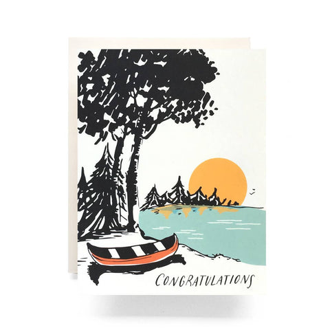 Antiquaria - Sunset Congrats Greeting Card - Cabin Fever Outfitters