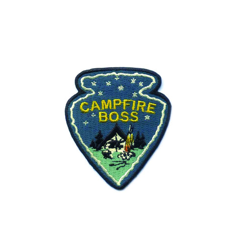 Antiquaria - Campfire Boss Embroidered Patch - Cabin Fever Outfitters