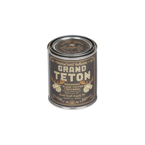 Good & Well Supply Co. - Grand Teton Candle - Cedarwood, Black Pepper & Patchouli