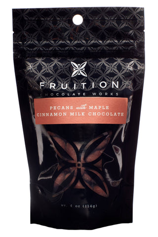Fruition Chocolate - Pecans with Maple Cinnamon Milk Chocolate - Cabin Fever Outfitters