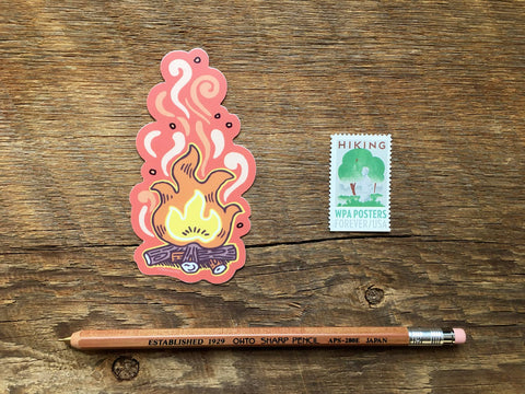 Noteworthy Paper & Press - Campfire Sticker
