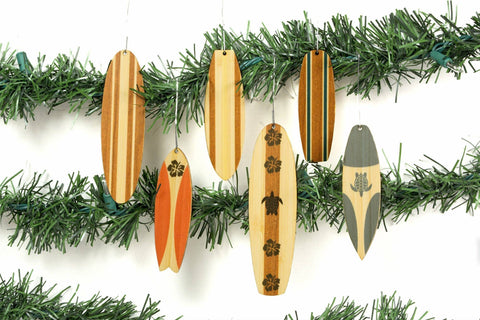 Cardboard Safari - Classic Surfboard Ornaments - Set of 6