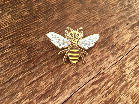 Noteworthy Paper & Press - Honey Bee Enamel Pin