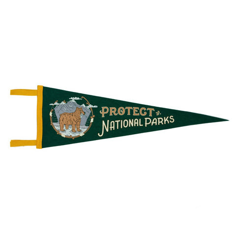 Good & Well Supply Co. - Protect National Parks Pennant - Cabin Fever Outfitters