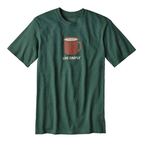 Patagonia Men's Live Simply® Mornings Cotton/Poly Responsibili-Tee™ - Cabin Fever Outfitters