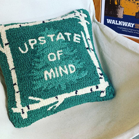 "Upstate of Mind 14"" Pillow - Cabin Fever Outfitters"