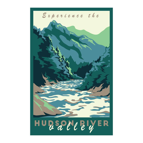 Lionheart Graphics - Experience the Hudson River Valley Travel Poster - Cabin Fever Outfitters