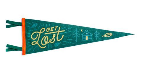 Get Lost Pennant - Cabin Fever Outfitters