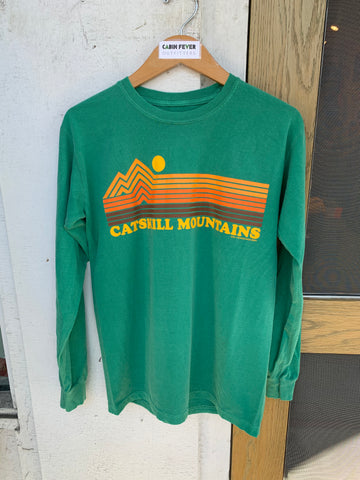 Catskill Mountains Stripes LS Tee - Cabin Fever Outfitters