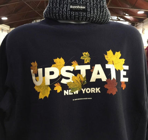 Upstate Fall Leaves LS Tee Navy