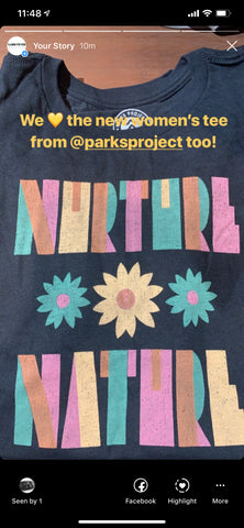 Nurture Nature Flower Parks Project Women's Tee - Cabin Fever Outfitters