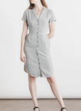 Dolores Narrow Stripe Doublecloth Dress