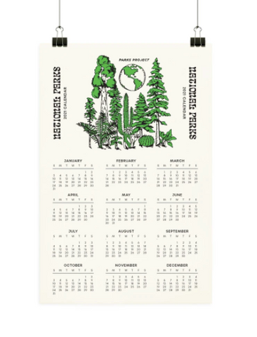 National Parks Year at a Glance Calendar
