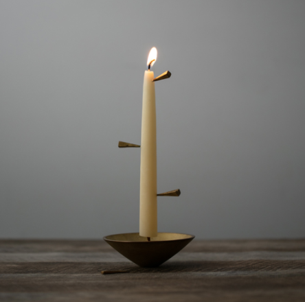 Time Bell Candle Holder