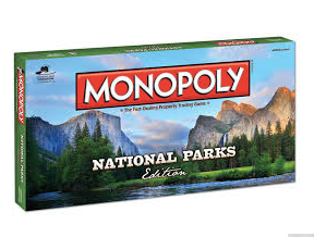Monopoly National Parks - Cabin Fever Outfitters
