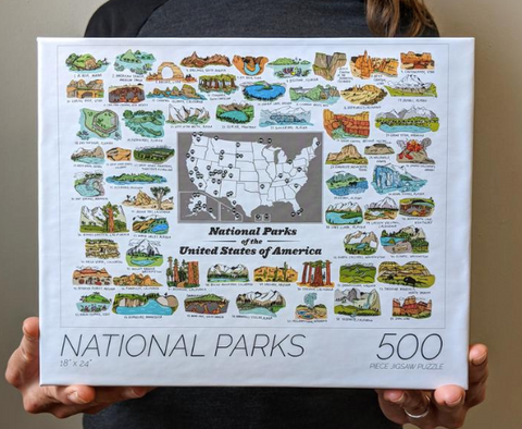 Brainstorm National Parks Puzzle - Cabin Fever Outfitters