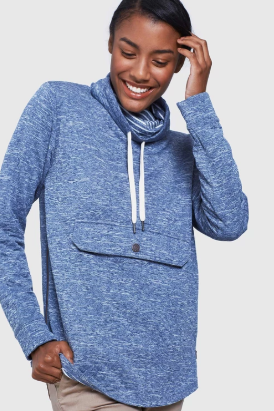 Women's Quilted Mockneck Sweatshirt - Cabin Fever Outfitters
