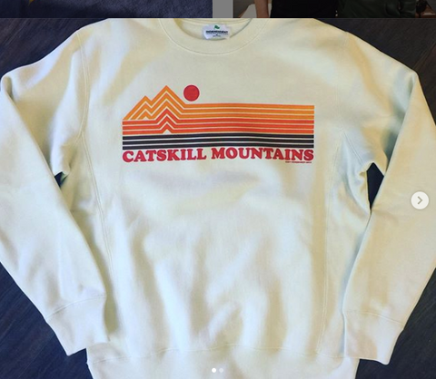 Catskill Mountains Stripes Crew Sweatshirt - Cabin Fever Outfitters