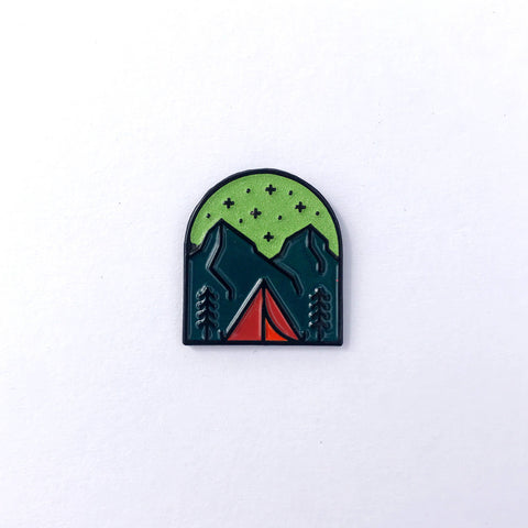 Fell - Night Camping Enamel Pin - Cabin Fever Outfitters