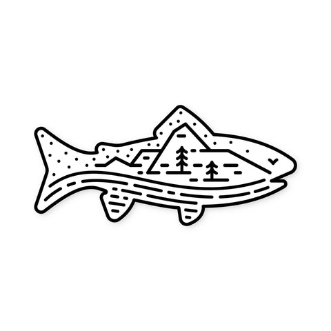 Fell - Trout Scene Sticker