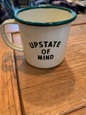 Upstate of Mind 12 oz Enamelware Mug - Cabin Fever Outfitters