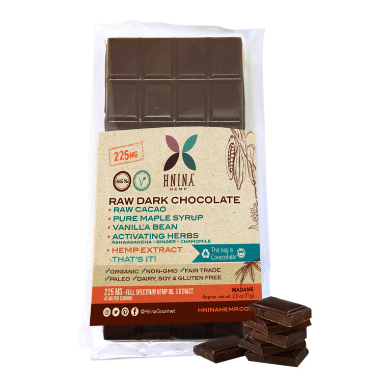 Hemp extract raw dark chocolate cbd
