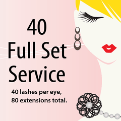 40 Lashes Full Set Service